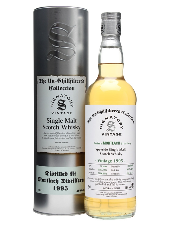 Mortlach 1995 / 16 Year Old / Casks #4077+8 / Signatory Speyside Whisky