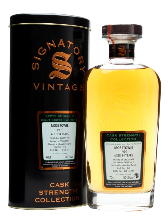 Mosstowie 1979 / 34 Year Old / Cask #1353 / Signatory Speyside Whisky