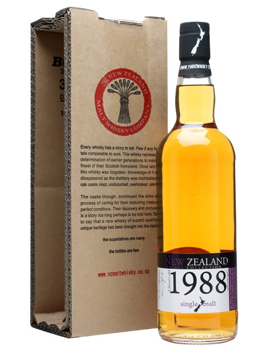 New Zealand 1988 / 23 Year Old / Cask #72 Single Whisky