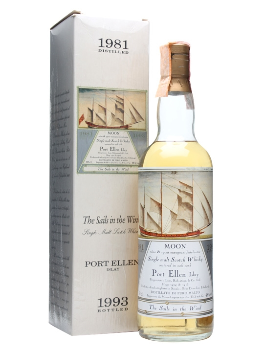 Port Ellen 1981 / Bot.1993 / Sails In The Wind / Moon Islay Whisky