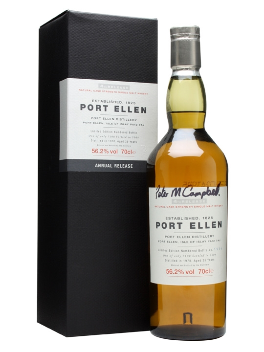 Port Ellen 1978 / 25 Year Old / 4th Release / Signed Bottle Islay Whisky