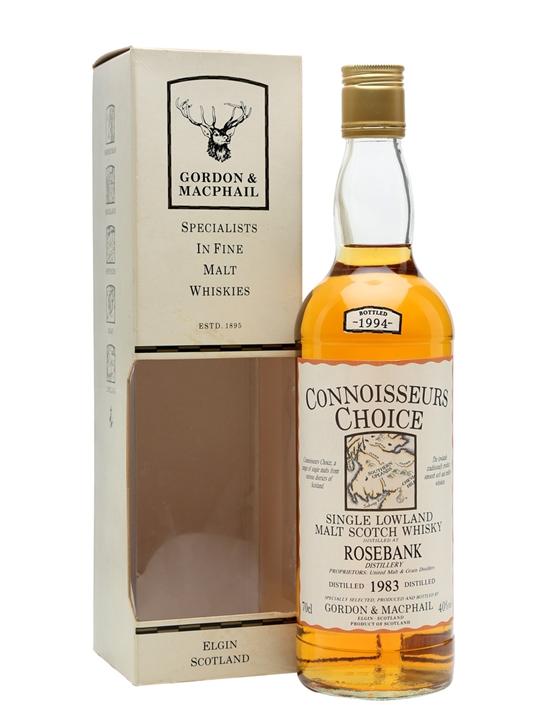 Rosebank 1983 / Connoisseurs Choice Lowland Single Malt Scotch Whisky