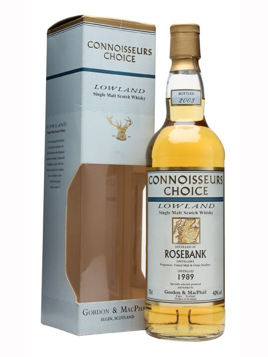 Rosebank 1989 / Connoisseurs Choice Lowland Single Malt Scotch Whisky