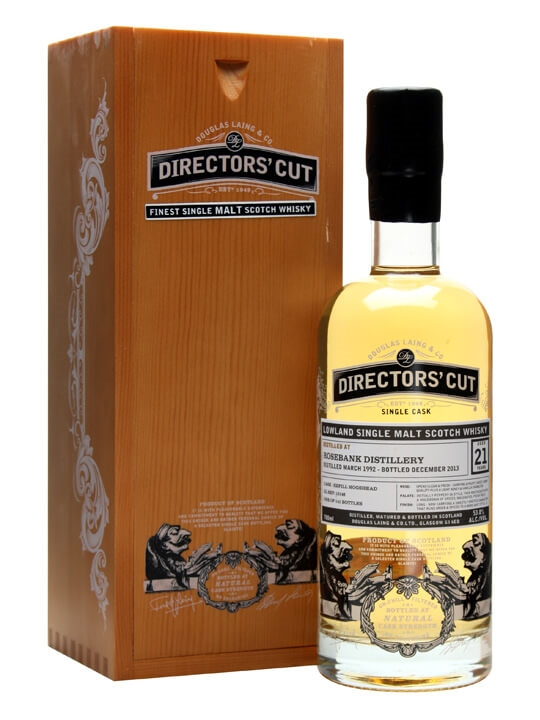 Rosebank 1992 / 21 Year Old / Douglas Laing Director's Cut Lowland Whisky