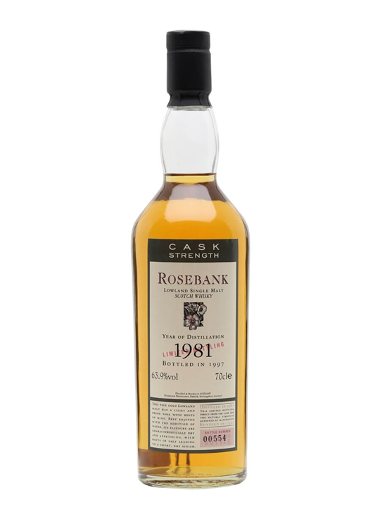 Rosebank 1981 / Bot.1997 Lowland Single Malt Scotch Whisky