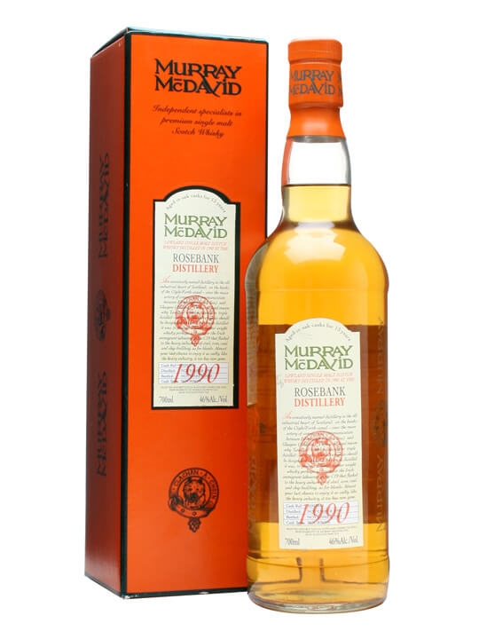 Rosebank 1990 / 13 Year Old / Murray Mcdavid Lowland Whisky