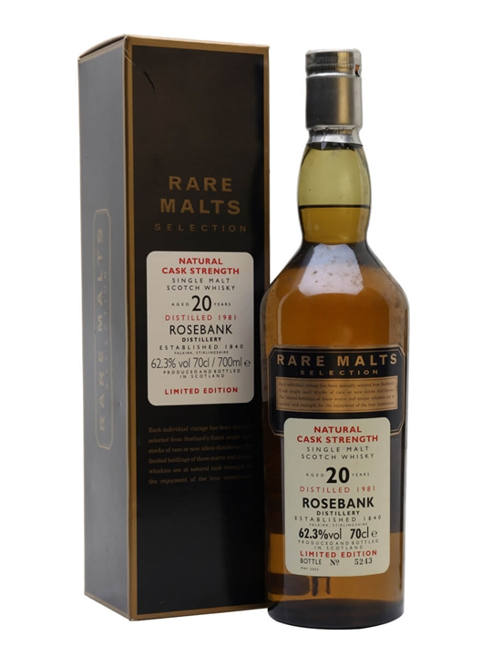 Rosebank 1981 / 20 Year Old Lowland Single Malt Scotch Whisky