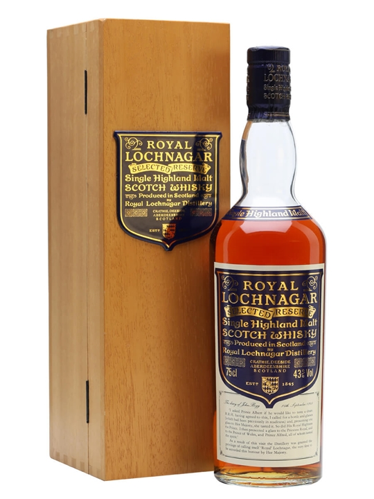 Royal Lochnagar / Selected Reserve / Unboxed Highland Whisky