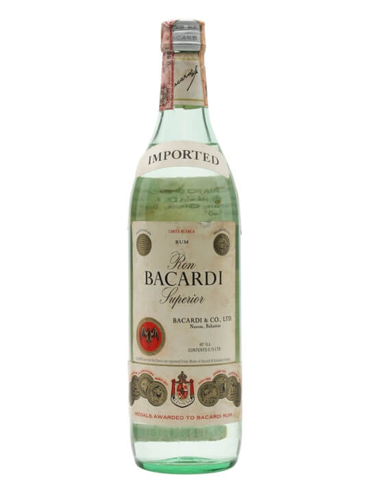 Bacardi Superior Rum (Mexico) / Bot.1980s
