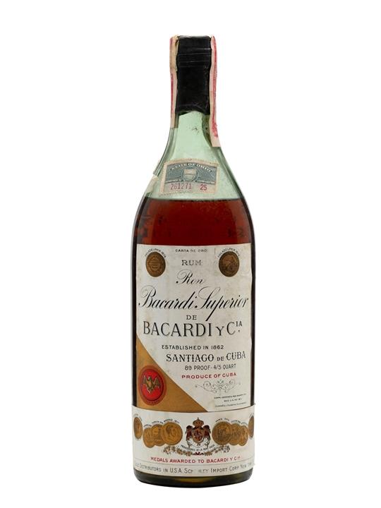 Bacardi Gold Rum / Carta de Oro (Cuba) / Bot.1930s