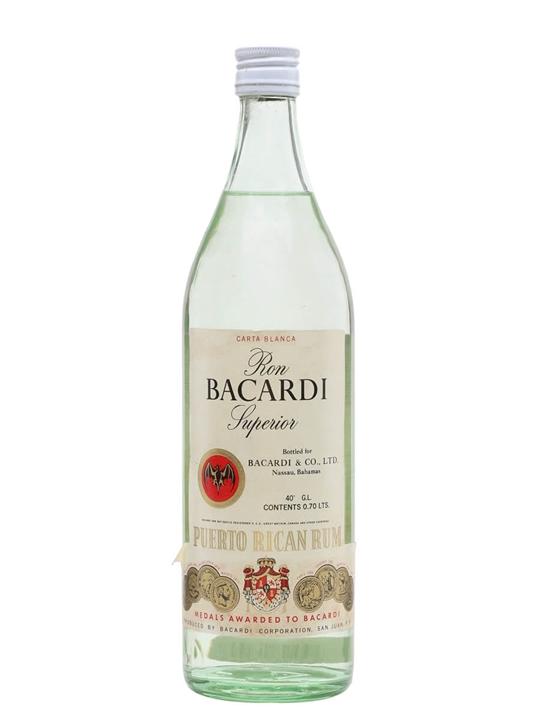 Bacardi Superior / Carta Blanca / Bot.1970s