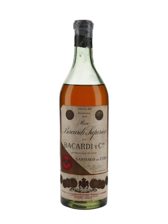 Bacardi Superior Rum / Carta de Oro (Cuba) / Bot.1930s