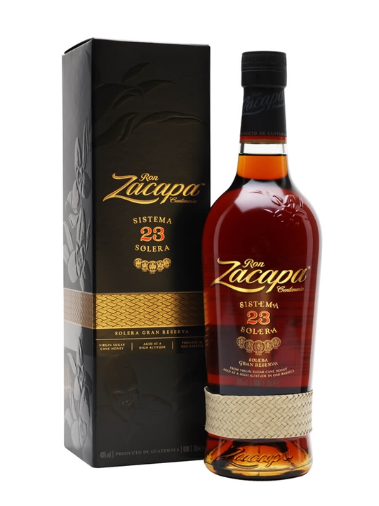 Ron zacapa centenario sistema solera 23 rum the whisky for Food bar zacapa