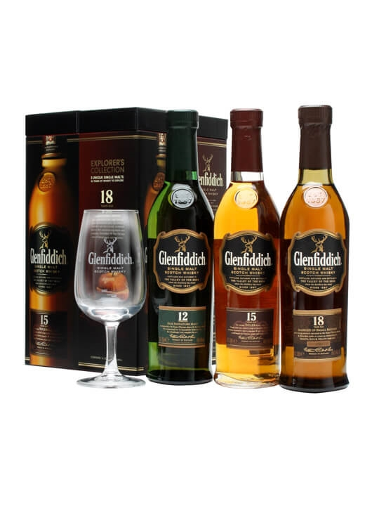 Glenfiddich Explorer's Collection / 12,15 & 18 Year Old Speyside Whisky