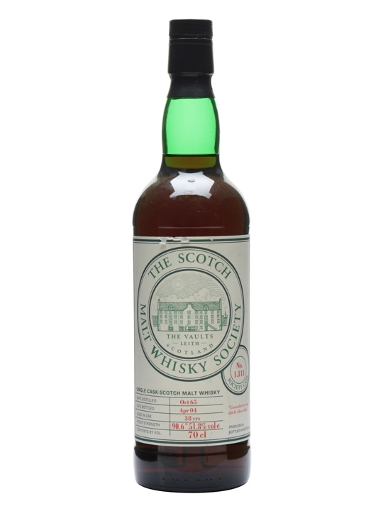 Smws 1.111 / 1965 / 38 Year Old Speyside Single Malt Scotch Whisky
