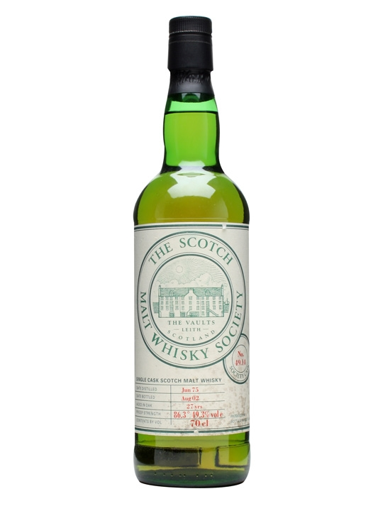 Smws 49.14 / 1975 / 27 Year Old Lowland Single Malt Scotch Whisky