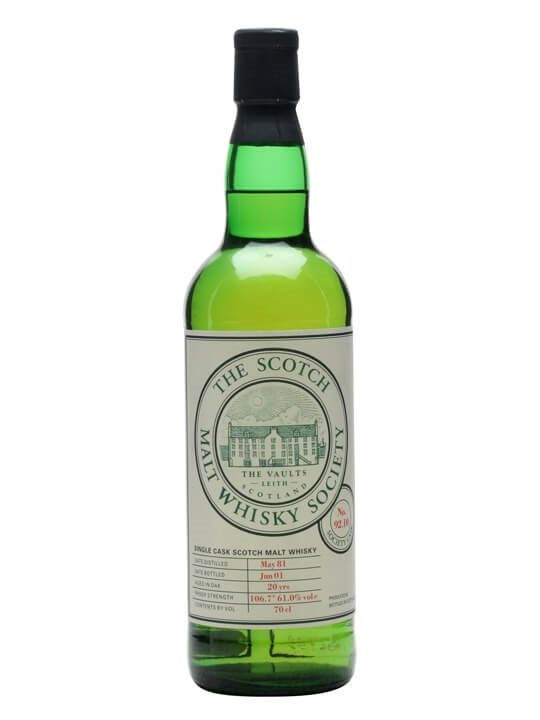 Smws 92.10 / 1981 / 20 Year Old Highland Single Malt Scotch Whisky