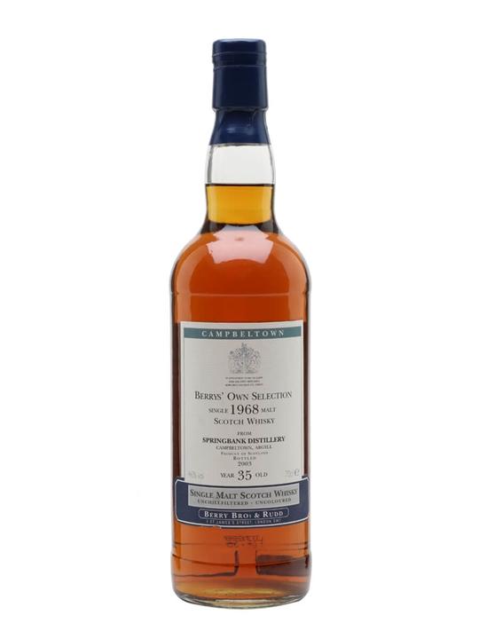 Springbank 1968 / 35 Year Old Campbeltown Single Malt Scotch Whisky