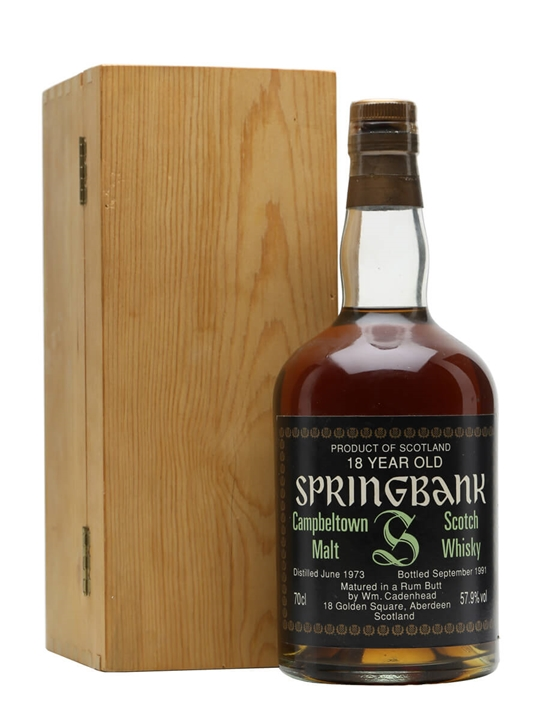 Springbank 1973 / 18 Year Old / Rum Butt Campbeltown Whisky