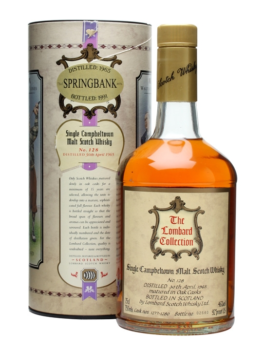 "Springbank 1965 / No.1 ""the Golfing Greats"" Campbeltown Whisky"