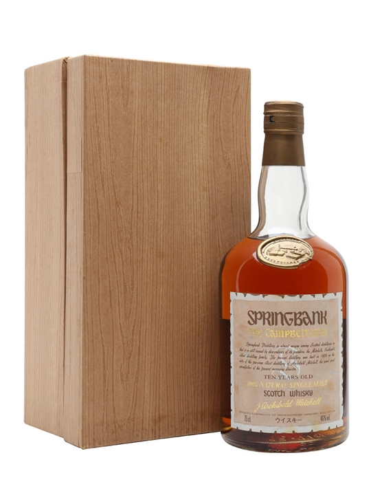 Springbank 10 Year Old  Bot.1980s Campbeltown Whisky