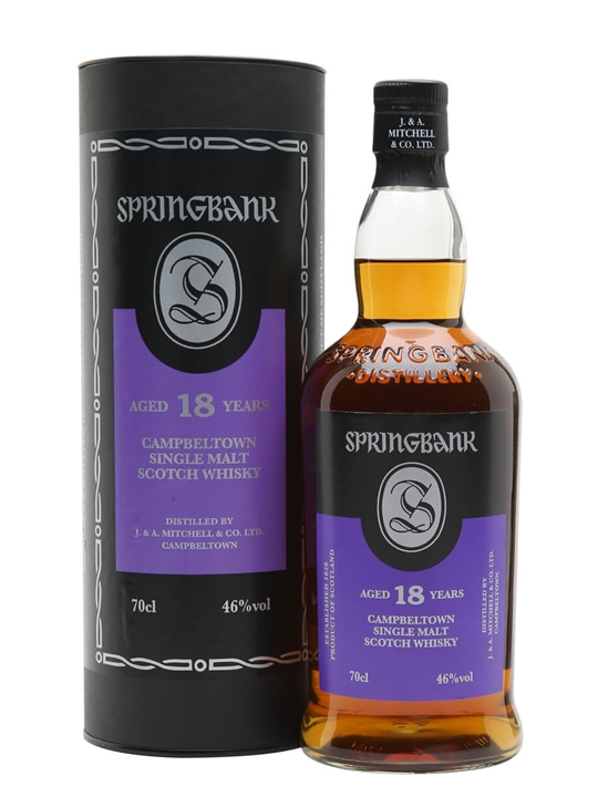 Springbank 18 Year Old Campbeltown Single Malt Scotch Whisky
