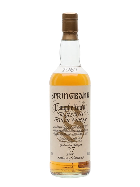 Springbank 1967 / 27 Year Old Campbeltown Single Malt Scotch Whisky