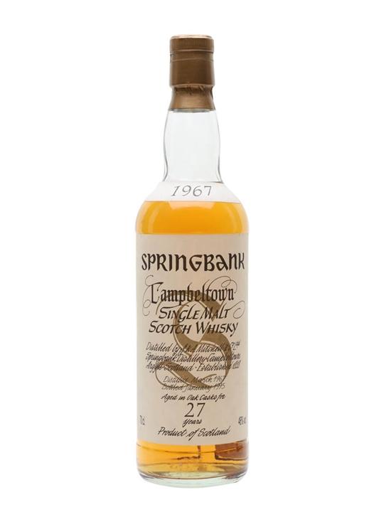 Springbank 1967 / 27 Year Old Campbeltown Single Malt Scotch Whisky