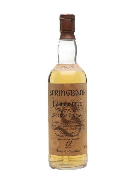 Springbank 1979 / 12 Year Old / White Label Campbeltown Whisky