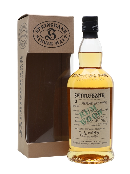 Springbank 1989 / 12 Year Old / Rum Wood Campbeltown Whisky