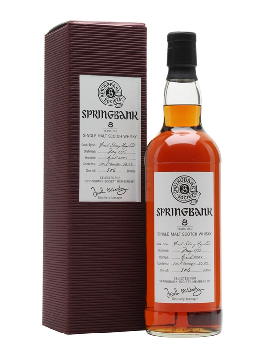 Springbank 1995 / 8 Year Old / Fresh Sherry Hogshead Campbeltown Whisky