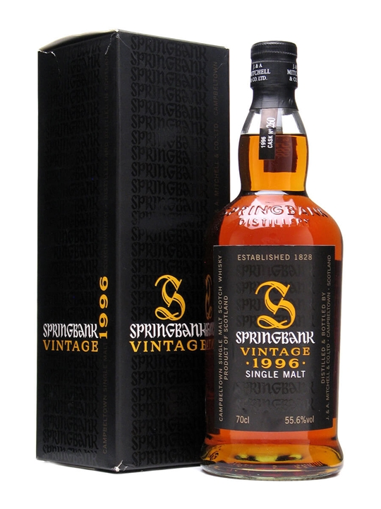Springbank 1996 / Cask 260 For Oddbins Campbeltown Whisky