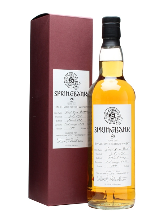 Springbank 1997 / 9 Year Old / Fresh Rum Butt Campbeltown Whisky