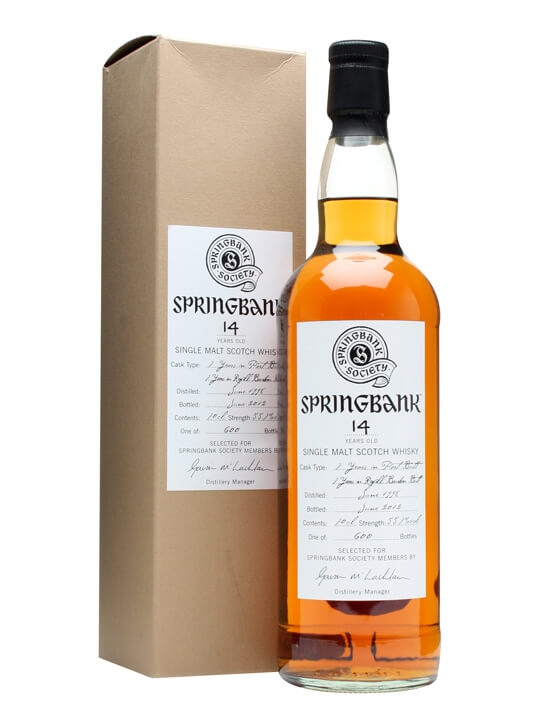 Springbank 1998 / 14 Year Old / Refill Bourbon Butt Campbeltown Whisky