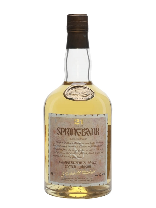 Springbank 21 Year Old Campbeltown Single Malt Scotch Whisky