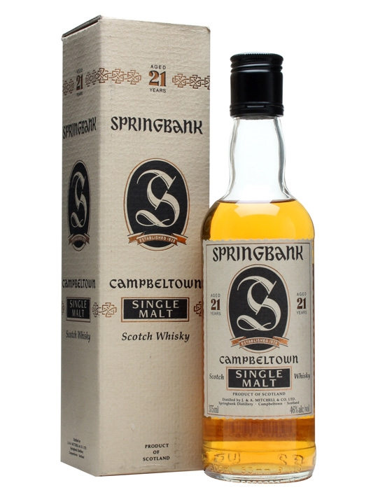 Springbank 21 Year Old / Bot.1990s Campbeltown Whisky
