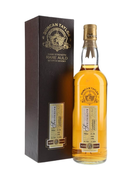 Springbank 1967 / 38 Year Old / Cask #1941 Campbeltown Whisky
