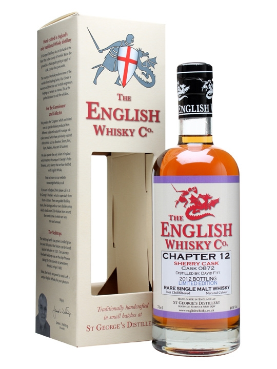 St. George's Distillery Chapter 12 / Sherry Cask English Whisky