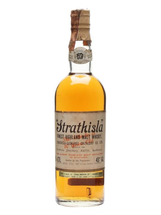 Strathisla 10 Year Old / Cork Stopper / Bot.1960s Speyside Whisky