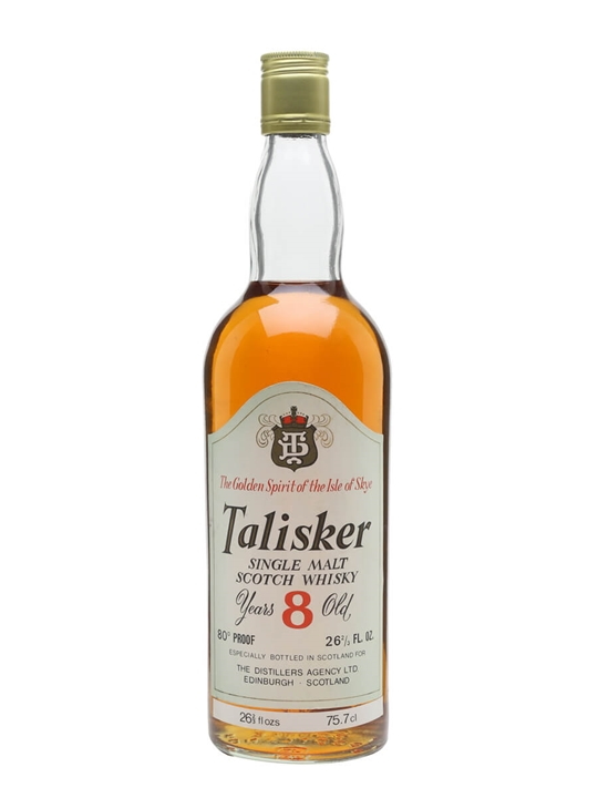Talisker 8 Year Old / Clear Glass / Bot.1970s Island Whisky