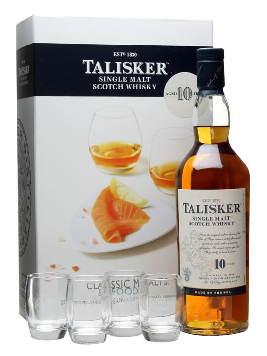 Talisker 10 Year Old / Classic Malts & Food Gift Pack Island Whisky