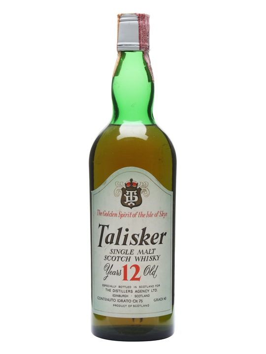 Talisker 12 Year Old / Bot.1970s Island Single Malt Scotch Whisky