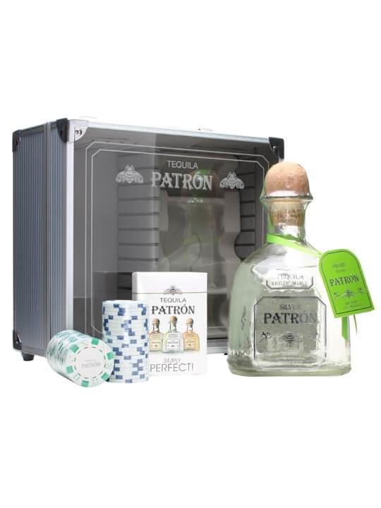 Patron Silver Tequila / Poker Set