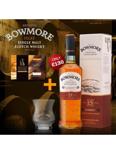 Whisky Show Bundle - Bowmore Darkest With Sunday Show Ticket