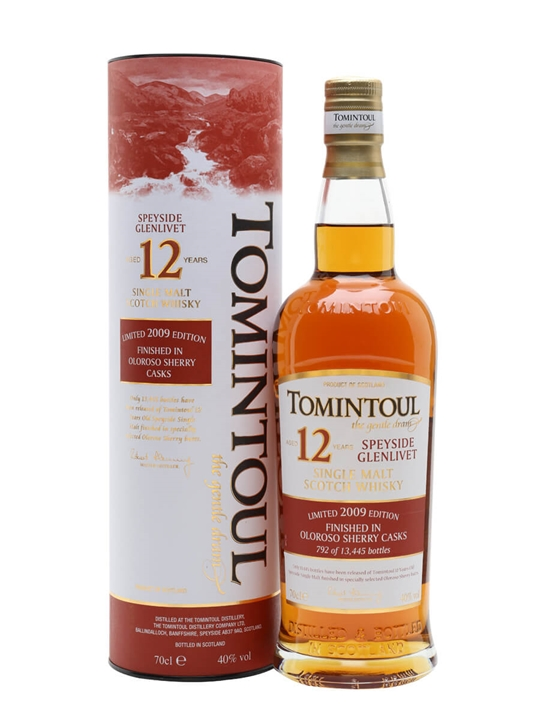 Tomintoul 12 Year Old / Sherry Cask Speyside Single Malt Scotch Whisky