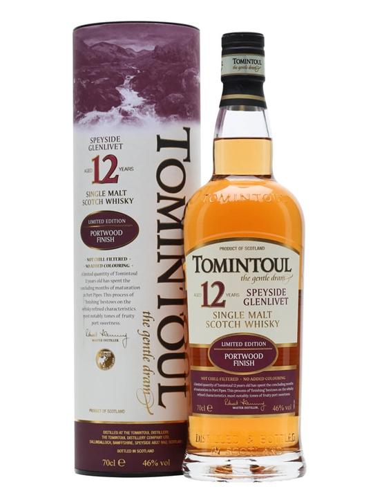 Tomintoul 12 Year Old / Portwood Finish Speyside Whisky