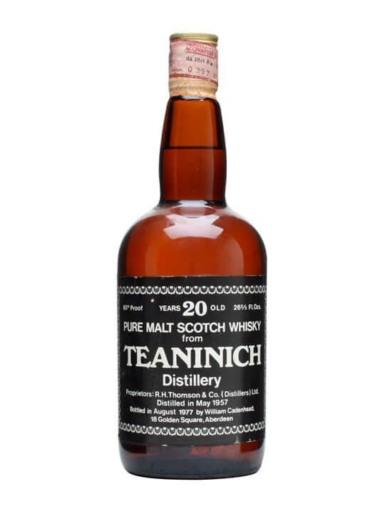 Teaninich 1957 / 20 Year Old / Cadenhead's Highland Whisky
