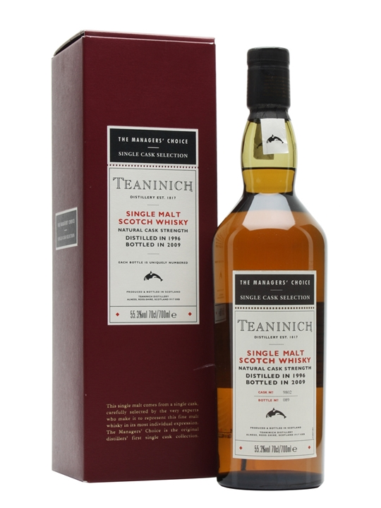 Teaninich 1996 / Managers' Choice Highland Single Malt Scotch Whisky