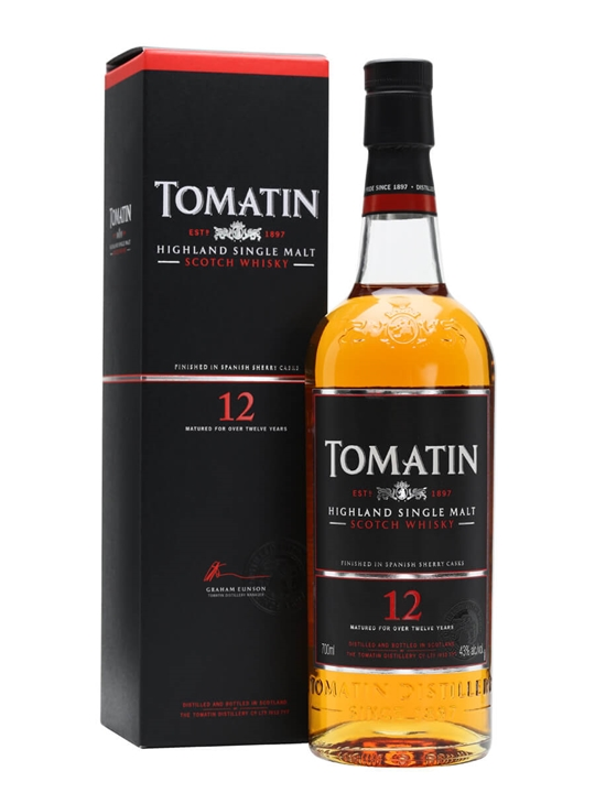 Tomatin 12 Year Old / Sherry Finish Speyside Single Malt Scotch Whisky