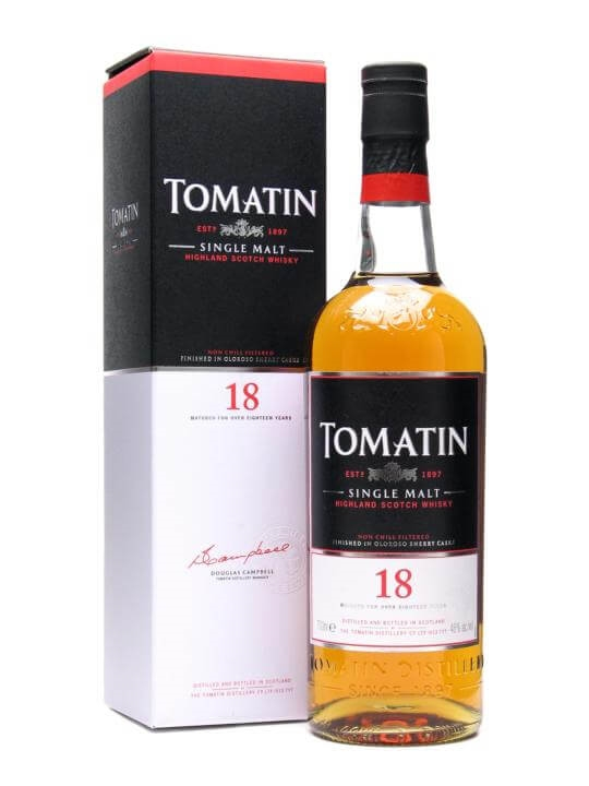 Tomatin 18 Year Old Speyside Single Malt Scotch Whisky